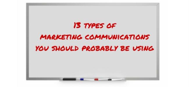 types of marketing communications