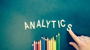 analytics spelt out with coloured pencils
