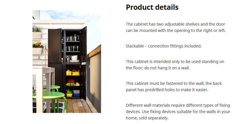 Ikea furniture product description example