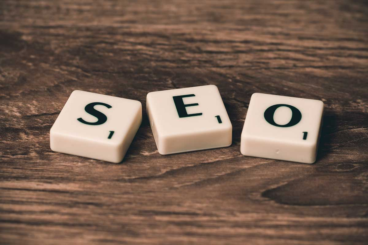 SEO copywriting guide - Shows scrabble letters that display the word SEO