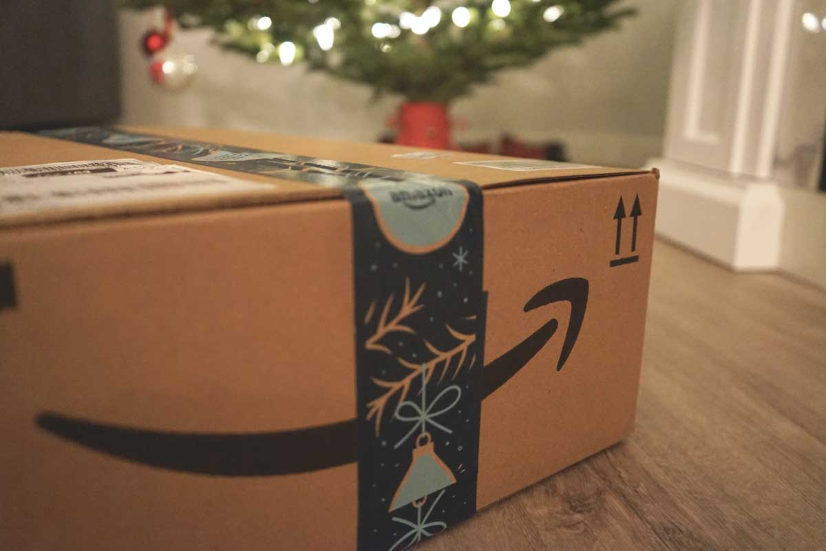 Writing amazon product descriptions - shows Amazon package