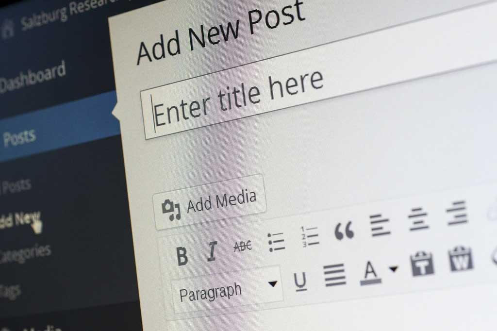 Blog image preview - WordPress