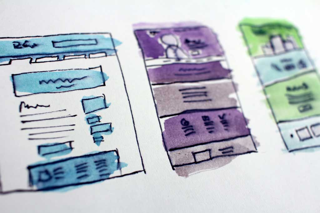 Writing copy for new websites - Shows a website layout map